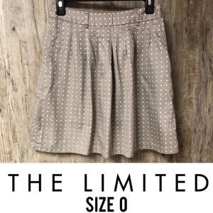 The Limited polka dot skirt